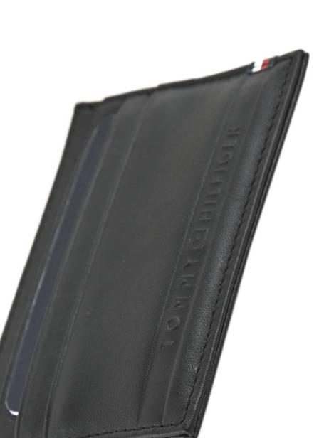 Porte-cartes Cuir Tommy hilfiger Noir selvedge emboss AM03666 vue secondaire 2