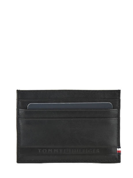 Porte-cartes Cuir Tommy hilfiger Noir selvedge emboss AM03666