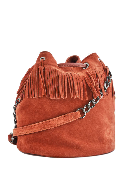 Longchamp Paris Rocks Velours Sacs porté travers Marron