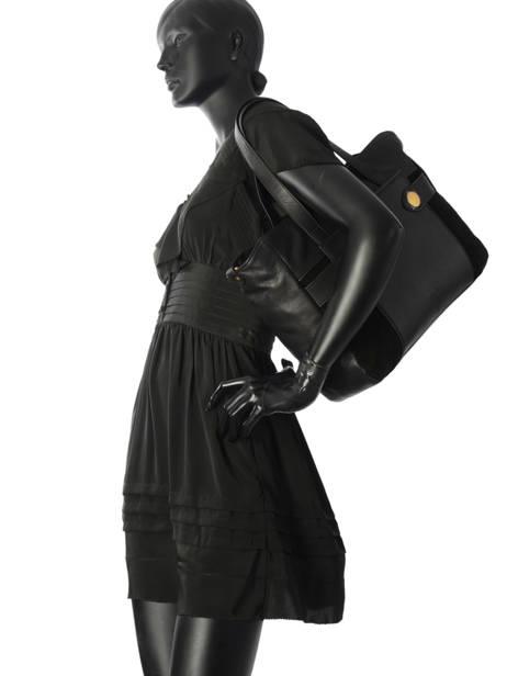 Sac Shopping Dolores Cuir Nat et nin Noir vintage DOLORES vue secondaire 2