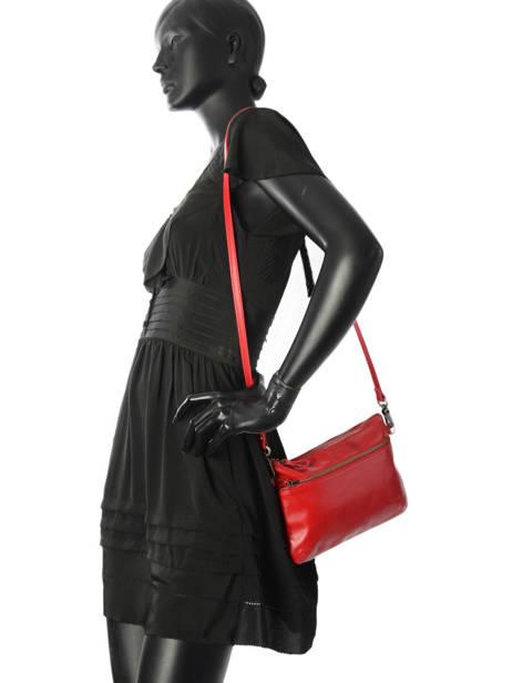 Sac Bandouliere Vicky Cuir Nat et nin Rouge vintage VICKY vue secondaire 2