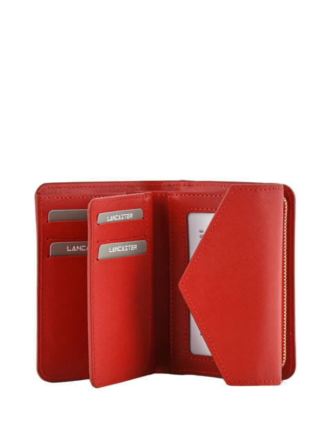 Wallet Leather Lancaster Red signature 127-02 other view 2