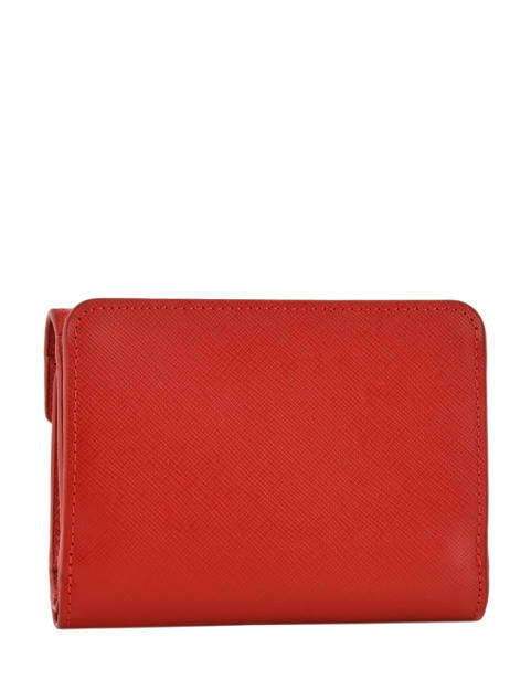 Wallet Leather Lancaster Red signature 127-02 other view 1