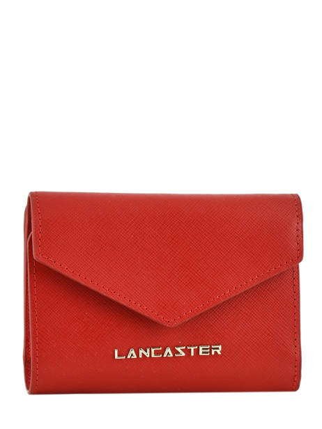 Wallet Leather Lancaster Red signature 127-02