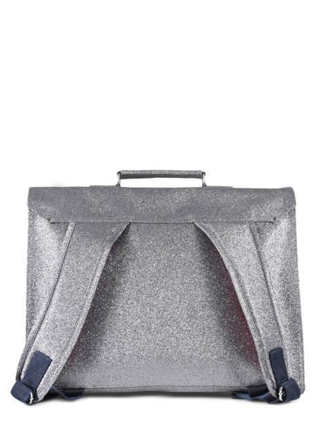 Cartable 1 Compartiment Bakker Gris glitter CAR38GLI vue secondaire 3