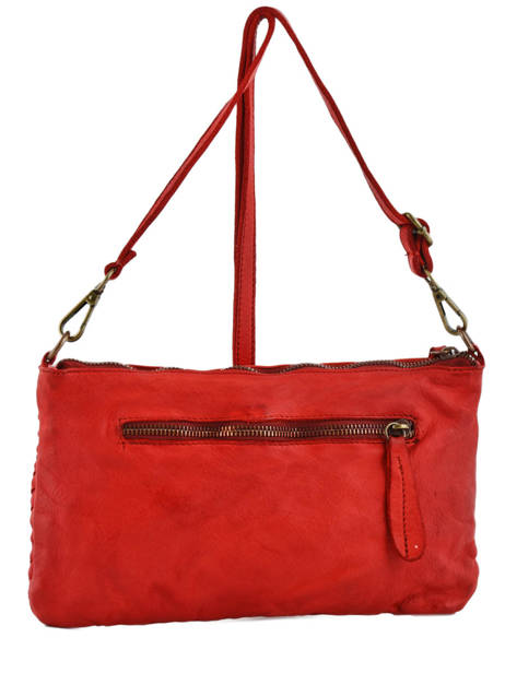 Shoulder Bag Dewashed Leather Milano Red dewashed TR17116 other view 2