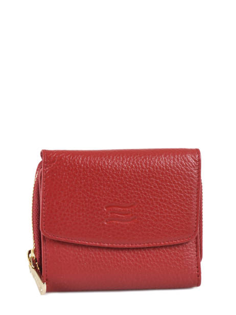 Wallet Leather Crinkles Red 14201