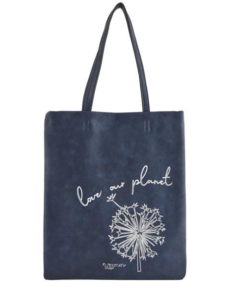 Sac Shopping Flat Bag Woomen Bleu flat bag WFLAT01