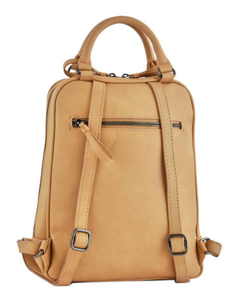 Backpack Woomen Beige hibiscus WHIBI01 other view 4
