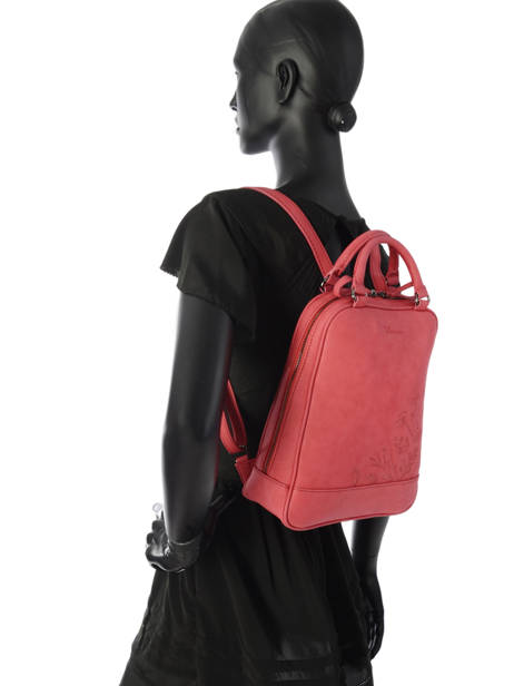 Backpack Woomen Red hibiscus WHIBI01 other view 2