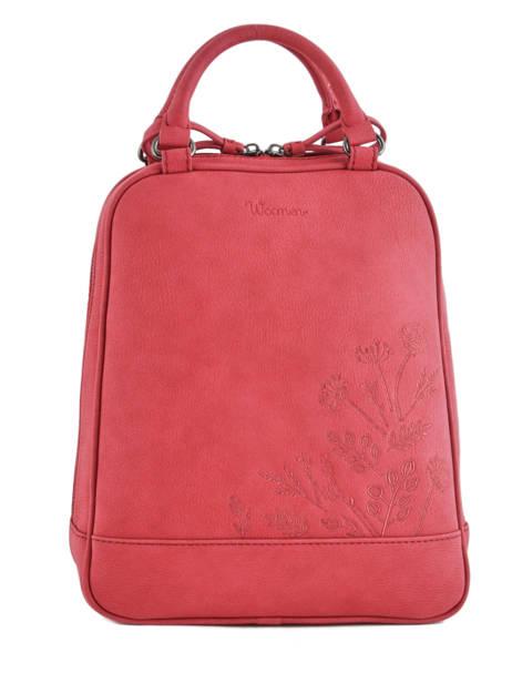 Backpack Woomen Red hibiscus WHIBI01
