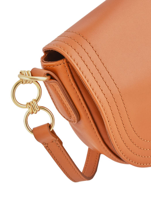 Longchamp Alezane Sacs porté travers Orange