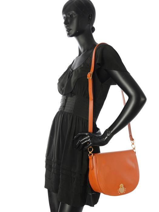 Longchamp Alezane Sacs porté travers Orange