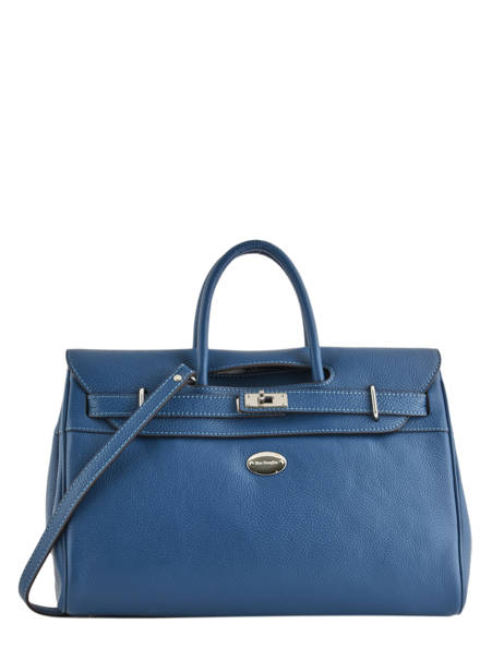 Top Handle Vesuvio Leather Mac douglas Blue vesuvio PYLVES-S