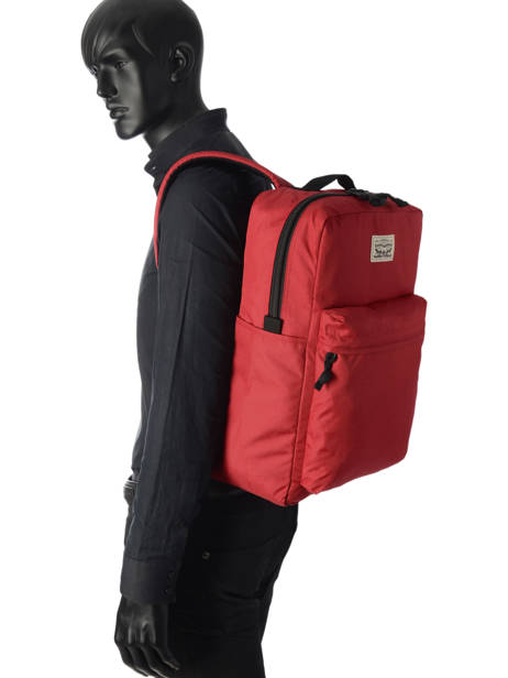 Backpack 15'' Laptop Levi's Red l1 225294 other view 2