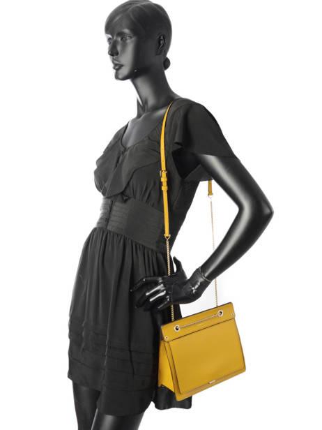 Shoulder Bag Like Leather Furla Yellow like LIK-BQA2 other view 2