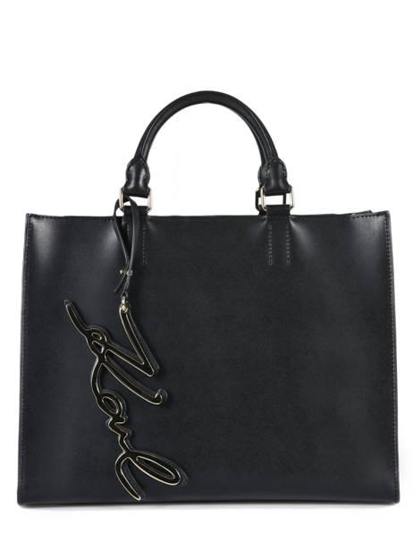 22bcbf685f Shopping Bag K Signature Leather Karl lagerfeld Black k signature 81KW3056  ...