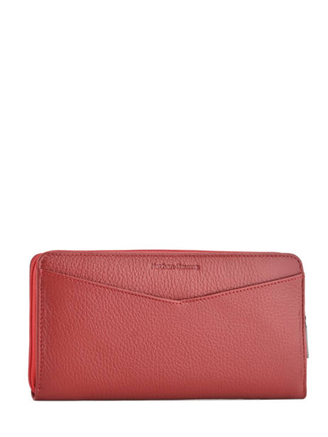 Wallet Leather Nathan baume Red original n 276N other view 2