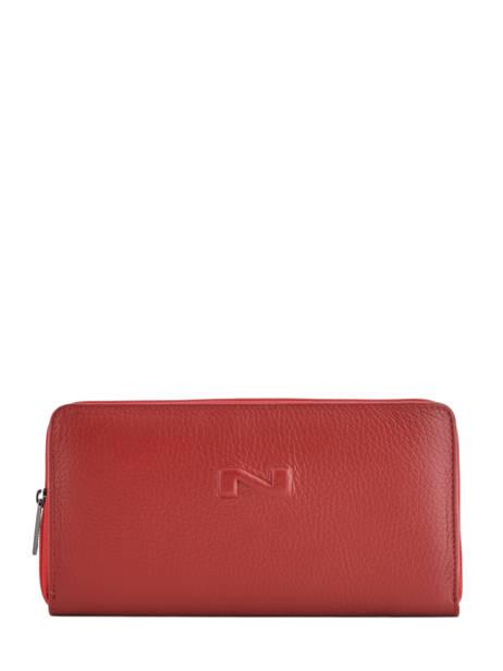 Wallet Leather Nathan baume Red original n 276N