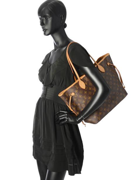 Sac Cabas D'occasion Louis Vuitton Neverfull Monogrammé Brand connection Marron louis vuitton 400A vue secondaire 4