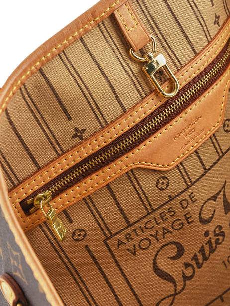 Sac Cabas D'occasion Louis Vuitton Neverfull Monogrammé Brand connection Marron louis vuitton 400A vue secondaire 2