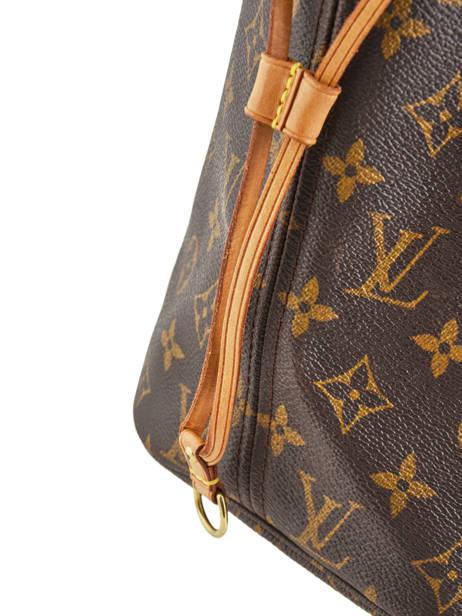 Sac Cabas D'occasion Louis Vuitton Neverfull Monogrammé Brand connection Marron louis vuitton 400A vue secondaire 3