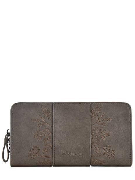 Wallet Woomen Gray hibiscus WHIBI91