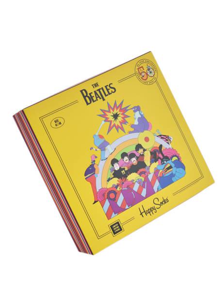 Coffret Cadeau 3 Paires De Chaussettes The Beatles Happy socks Orange pack XBEA08 vue secondaire 1