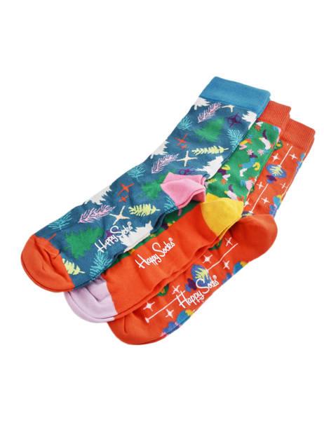 Coffret Cadeau 3 Paires De Chaussettes Spécial Noël Happy socks Multicolore pack XMAS08 vue secondaire 2