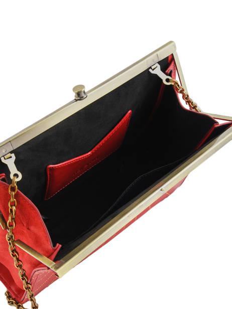 Sac Bandoulière Vintage Cuir Nat et nin Rouge vintage DALIA vue secondaire 4