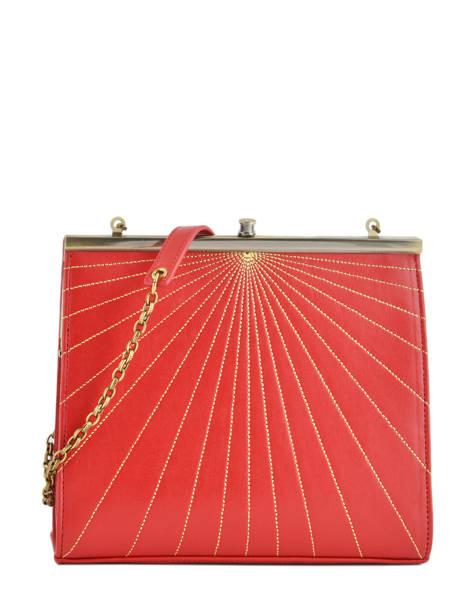 Sac Bandoulière Vintage Cuir Nat et nin Rouge vintage DALIA