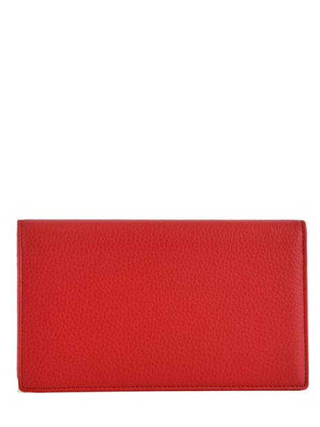 Porte-chéquier Cuir Hexagona Rouge toucher 627071 vue secondaire 1