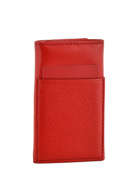 Key Holder Leather Hexagona Red toucher 627076 other view 1