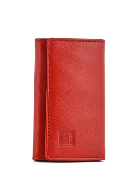 Key Holder Leather Hexagona Pink toucher 627076
