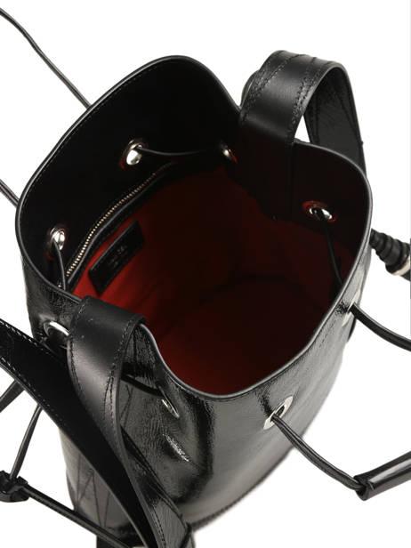 Sac Seau L Le Huit Vernis Lancel Noir le huit A08944 vue secondaire 4