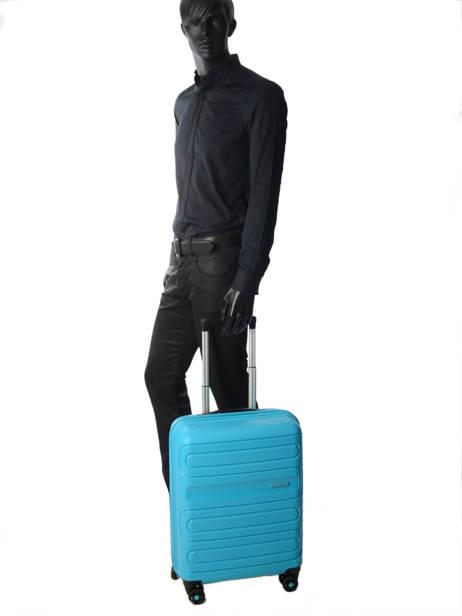 Valise Cabine American tourister Bleu sunside 51G001 vue secondaire 2