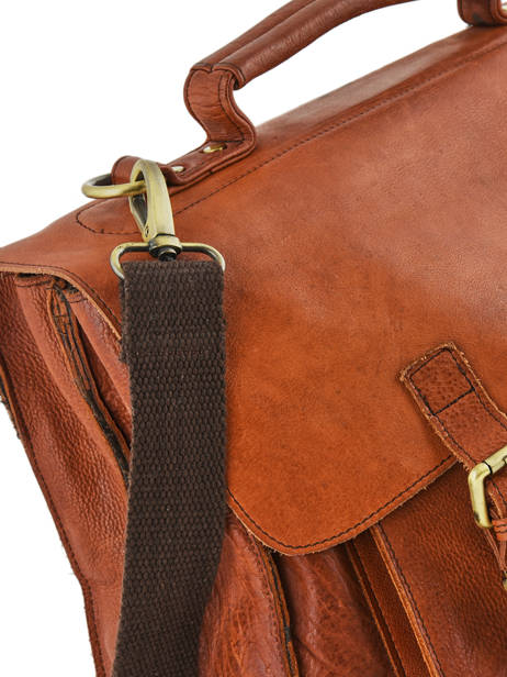 Briefcase Basilic pepper Brown urban BURB03 other view 1