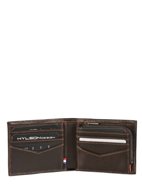 Wallet Leather Wylson Brown rio W8190-6 other view 1