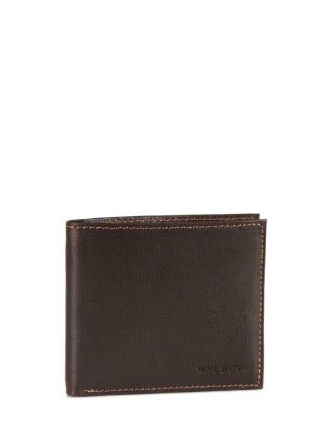 Card Holder Leather Wylson Brown rio W8190-7