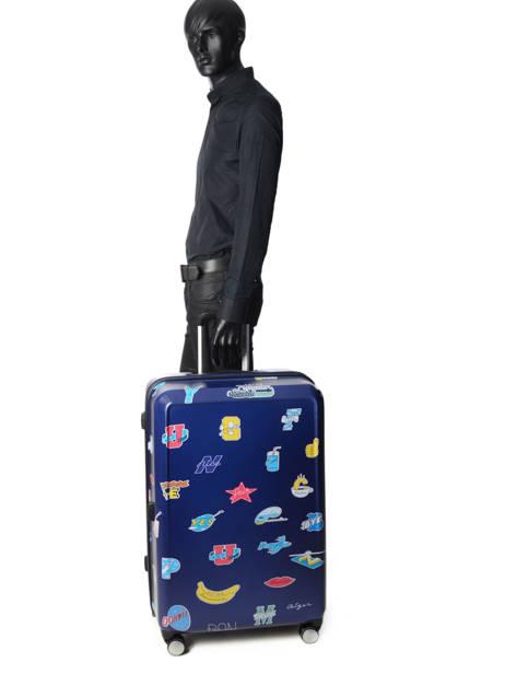 Valise Rigide Ceizer Fun American tourister Bleu ceizer fun 66G003 vue secondaire 3