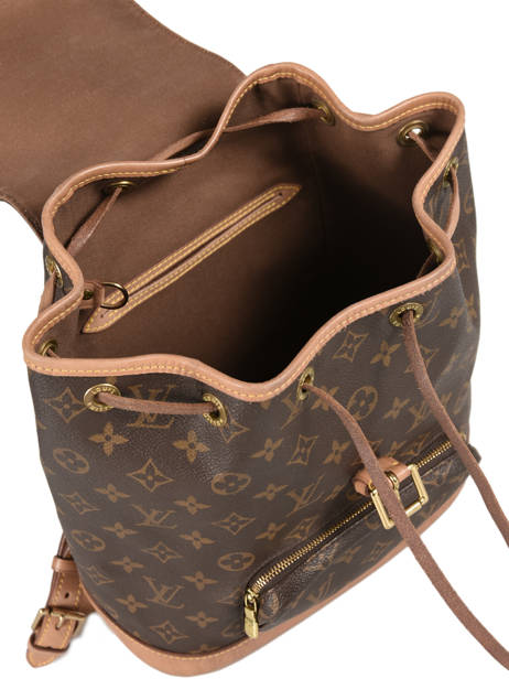 Sac à Dos D'occasion Louis Vuitton Montsouris Monogrammé Brand connection Marron louis vuitton 133 vue secondaire 4