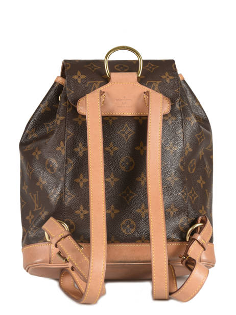 Sac à Dos D'occasion Louis Vuitton Montsouris Monogrammé Brand connection Marron louis vuitton 133 vue secondaire 3