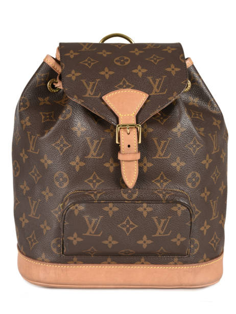 Sac à Dos D'occasion Louis Vuitton Montsouris Monogrammé Brand connection Marron louis vuitton 133