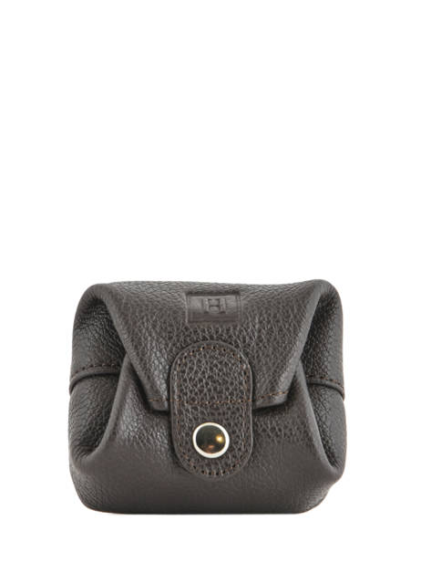 Leather Purse Hexagona Brown confort 467387