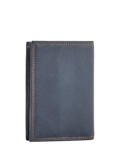 Portefeuille Cuir Lancaster Bleu soft vintage homme 120-13 vue secondaire 2
