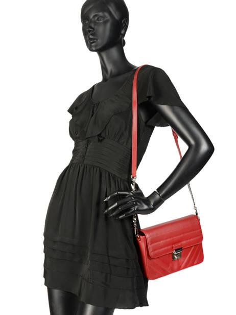 Shoulder Bag Parisienne Couture Leather Lancaster Red parisienne couture 571-66 other view 2