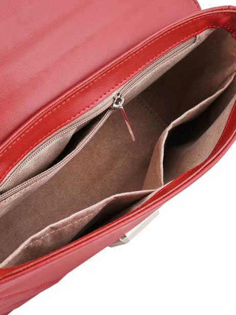 Shoulder Bag Parisienne Couture Leather Lancaster Red parisienne couture 571-66 other view 4