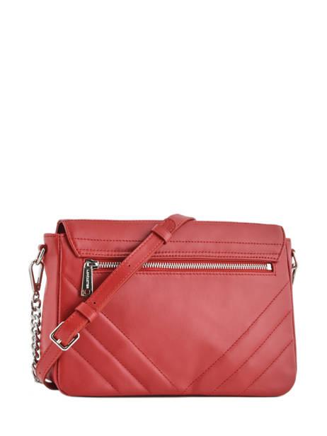 Shoulder Bag Parisienne Couture Leather Lancaster Red parisienne couture 571-66 other view 3