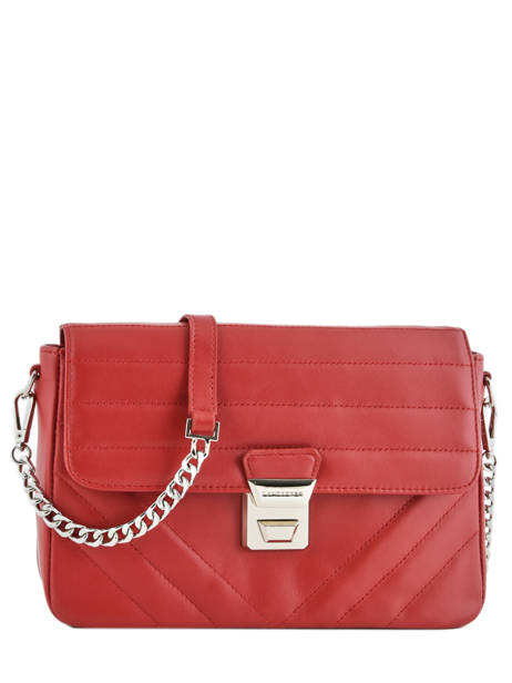 Shoulder Bag Parisienne Couture Leather Lancaster Red parisienne couture 571-66