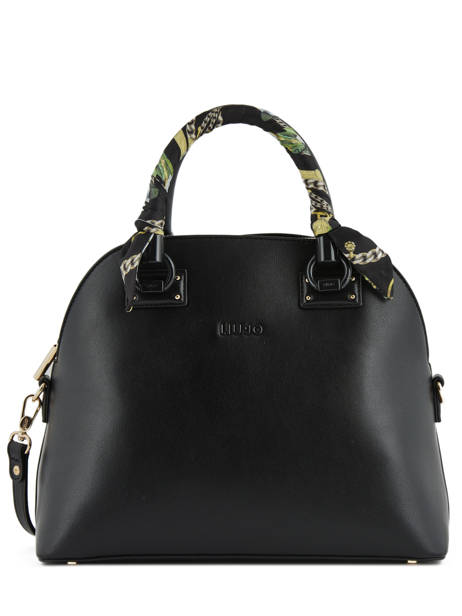 Dettagli su BORSA LIU JO BAULETTO MANHATTAN A19097 SATCHEL BAG M NERO BLACK + TRACOLLA SALDI
